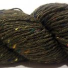 Tahki Donegal Tweed Wool Yarn 3.5 oz. (100 g) Color 0839 Dark Olive Green with Flecks