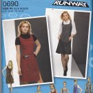 Simplicity 0690 Pattern Uncut FF size 12 14 16 18 20 plus 1960s Inspired Jumper Project Runway