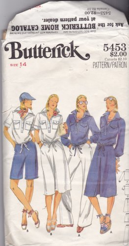 Butterick 5453 size 14, may be missing pieces, 50 cents plus shipping
