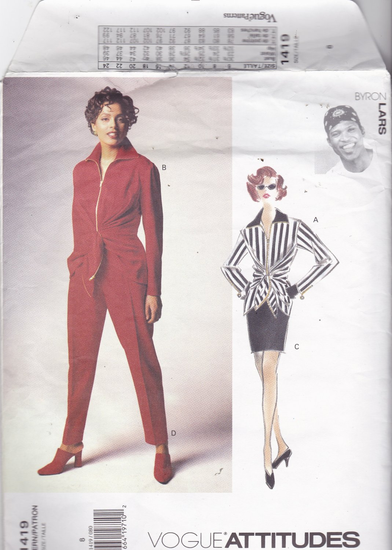 Vogue Attitudes 1419 Pattern Uncut FF 8 Designer Byron Lars