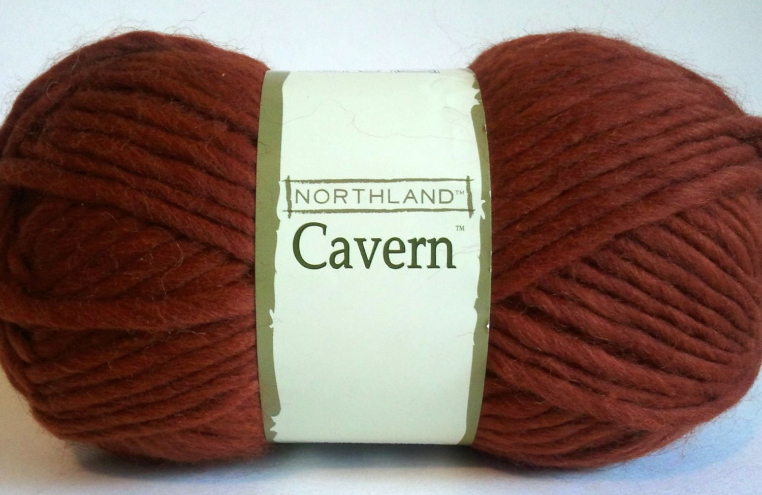 Northland Cavern Acrylic Wool Blend Yarn 3.5 oz Glacier Lava Brown Rust Super Bulky 6