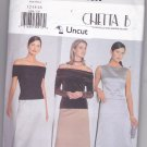 Butterick 6396 Pattern uncut 12 14 16 Off Shoulder Top Long Skirt Formal Easy Chetta B