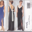 Butterick 4198 Pattern 14 16 18 Uncut Lined Dress Leg Slit Contrast Sweetheart Neckline Donna Ricco