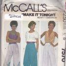 McCall's 7570 Pattern small Uncut Border Print Pants Harem Pants Elastic