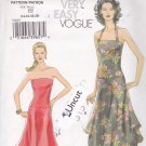 Vogue V8065 Pattern 14 16 18 20 Uncut Sundress Strapless or Halter Dress High Low Shaped Hem