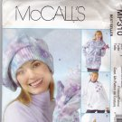 McCall's MP310 Pattern xs small medium bust 29.5 - 36 Uncut Unlined Fleece Jackets Hats Mittens