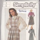 Simplicity 7597 Pattern 6 Bust 30.5 Uncut Jumper Detachable Bib Blouse Skirt