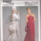 Vogue 1801 Pattern Uncut Size 8 Bust 31.5 Wedding or Formal Dress Bustle Bellville Sassoon Designer