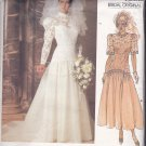Vogue 1660 Pattern Uncut Size 8 Bust 31.5 Bridal Wedding Dress Train Lace Bodice