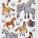 Limited Edition Colorbok Stickerdoodles Horses 26 Bling Foil Glitter Stickers