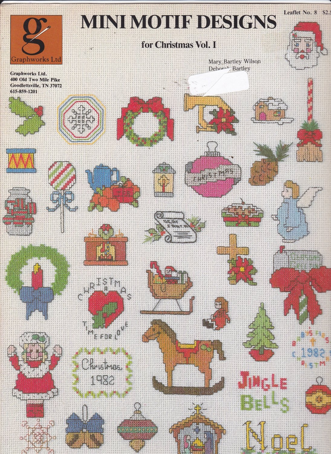 Graphworks Mini Motif Designs Christmas vol 1 leaflet 8 Counted Cross Stitch