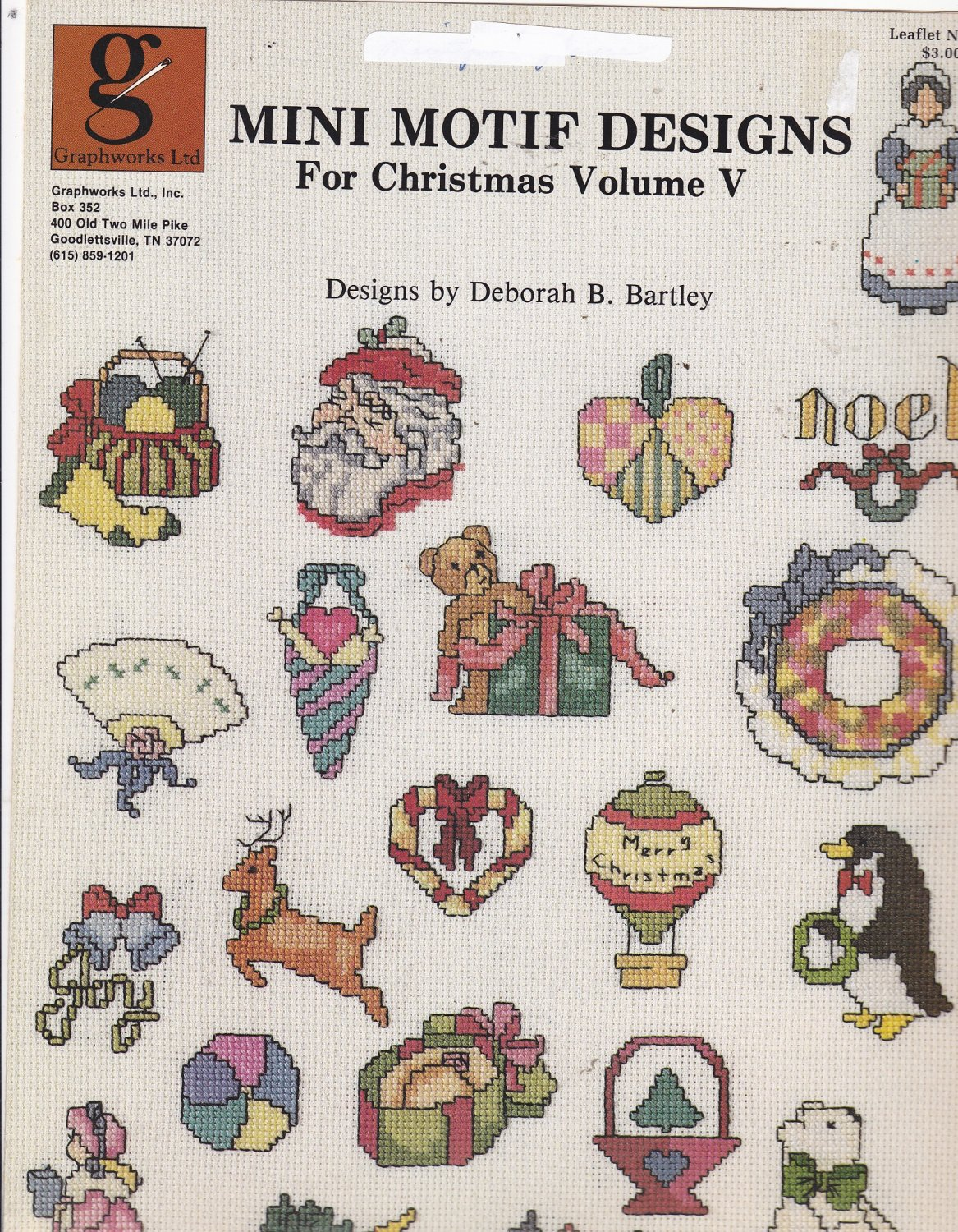 Graphworks Mini Motif Designs Christmas vol 5 leaflet 26 Counted Cross Stitch
