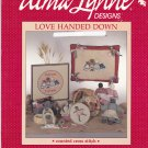 Love Handed Down Counted Cross Stitch Primitive Dolls Alma Lynne Designs leaflet