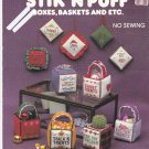 Banar Designs Stik 'N Puff Boxes Baskets And Etc. Cross Stitch Cl 30 leaflet No Sew