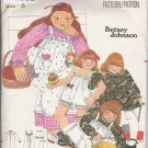 Vintage Butterick Pattern 5279 Girls' Dress Pinafore Bloomers 6 Betsey Johnson Cut Complete