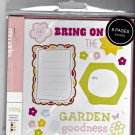 American Crafts 8 Page Remarks Sticker Book Garden Goodness Good Afternoon