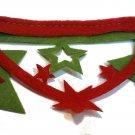 Lot of 2 Artminds Die Cut Felt Trim Border 1.5x78.75 inches each Red Green Stars