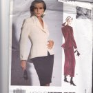 Vogue Attitudes 1048 Pattern Uncut 6 8 10 Jacket Flared Hem Shawl Collar Skirt Myrene De Premonville