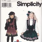 Simplicity 0688 Pattern Uncut 3 4 5 6 Girls Daisy Kingdom Border Print Jumper Vest Skirt