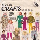 McCall's Crafts 823 2686 Pattern Uncut 11.5 inch Fashion Doll Clothes Barbie Bride Fur Coat Hat