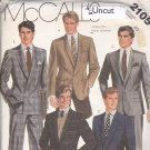 McCall's 2105 Pattern Uncut Men Lined Jacket 40 Palmer & Pletsch Single or Double Breasted