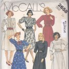 McCall's 2658 Pattern 14 Bust 36 Uncut Dress Bodice Tucks Short Long Gathered Sleeves