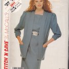 McCall's Stitch N Save 2811 Pattern 14 16 18 Uncut Dress Jacket Gathered Shoulders 3/4 Sleeves