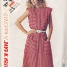 McCall's Stitch N Save 3109 Pattern 14 16 18 Uncut Sleeveless Dress Round Neckline