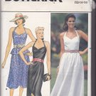 Butterick 6597 Pattern 12 14 16 Uncut Sweetheart Halter Dress Peplum Front Drape Sundress