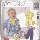 McCall's 4542 Pattern Uncut Babies Infants NB S M L Overalls Romper Jacket Tops Hat
