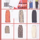 Butterick 5430 Pattern 12 14 16 Uncut Semi Fitted Straight Skirt