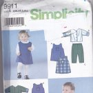 Simplicity 9911 Pattern Uncut Babies Infants Preemie to 18 months Dress Romper Pants Lined Jacket