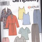 Simplicity 9330 Uncut FF Men Women Teens Pajamas Tank Top Pants Tee Shorts Robe All Sizes