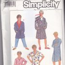 Simplicity 8327 Pattern Uncut Boys Large 12 Pajamas Pants Night Shirt Robe Sleepwear