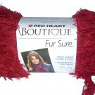 Red Heart Boutique Fur Sure Yarn Ruby 9918 Deep Pink Red Eyelash Yarn Super Bulky 6