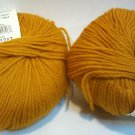 2 Skeins Elsebeth Lavold Favorite Wool Designer's Choice Yarn 029 Saffron 50g 100m each Yellow Gold