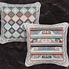 2 Janlynn Needlepoint Pillow Top Kits Diamond 35-234 and Greek Key 35-235 Ann Benson