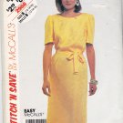 McCall's Stitch N Save 2968 Pattern 12 14 16 18 Uncut Straight Dress Round Neckline Short Sleeves