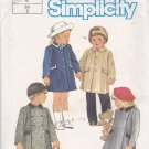 Simplicity 6661 Pattern Uncut 2 Breast 21 Boy Girl Children Toddlers Classic Lined Coat