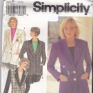 Simplicity 8036 Pattern 12 14 16 Uncut Classic Single Breasted Lined Blazer Jacket Notched Collar