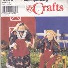 "Simplicity Crafts 8830 Pattern Uncut Smokey Mountain 17"" Stuffed Rabbits and Clothes"