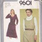 Simplicity 9601 Pattern 18 20 Uncut Jiffy Scoop Neck Jumper Dress Side Seam Pockets