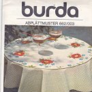 Burda 662/003 Embroidery Transfer Red Poppy Peasant Flower Motif for Tablecloth