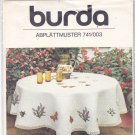 Burda Embroidery Transfer 741/003 Butterflies Honeybee for Tablecloth Wildflowers