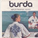 Burda 742/002 Cross Stitch Embroidery Transfer Tree of Life Peacock Motifs Single Color No-Count