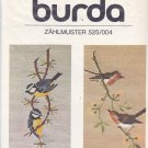 Burda 525 Needlepoint Embroidery Charts Bird Motifs Finches Titmice Blue Titmice Robins