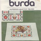 Burda 789/002 Embroidery Transfer Advent Christmas Tablecloth Candles Hearts Evergreen