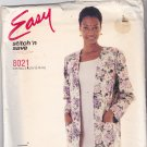 McCall's Stitch N Save 8021 Pattern 10 12 14 16 Uncut Boxy Unlined Jacket Sleeveless Dress