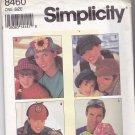 Simplicity 8460 Pattern Uncut Hats Men Women Boys Girls Children