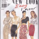New Look 6321 Pattern 8 10 12 14 16 18 Uncut Easy 1 Hour Wrap Skirt in Two Lengths Midi